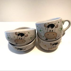 Other - Set of 2 Happy Cow Bowl and Mug | 16oz